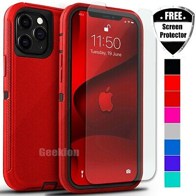 For Apple iPhone 12 Mini 11 Pro Max Shockproof Rugged Case - Screen Protector