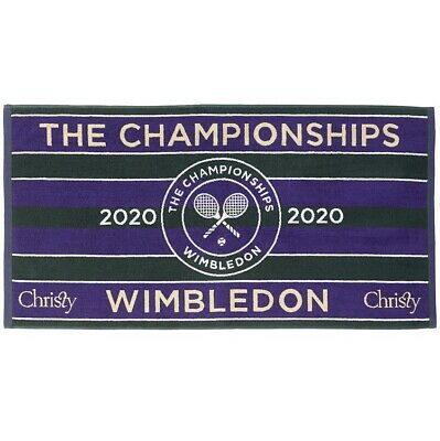 WIMBLEDON THE CHAMPIONSHIPS 2020 OFFICIAL CHRISTY MENS TENNIS TOWEL NEW