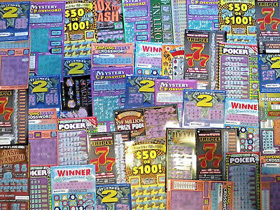 37 California Lottery Ticket Assorted Second Chance Scratchers 2nd Redeemable