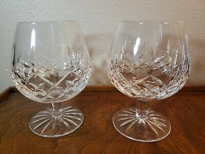 WATERFORD CRYSTAL LISMORE  BRANDY SNIFTER FOOTED GOBLET Set of 2