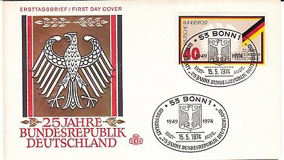Germany 1974 FDC 25 Years Federal Republic Of Germany