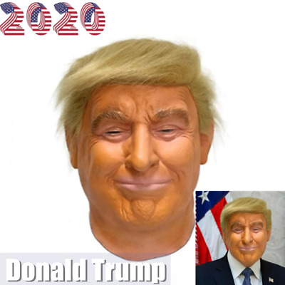 2020 Donald Trump Mask Costume Cosplay Party Celebrity Mask Halloween US SALE