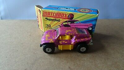 MATCHBOX LESNEY SUPERFAST No30 BEACH BUGGY  PINK BOXED