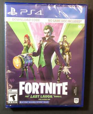 Fortnite The Last Laugh Bundle  Code in Case  PS4 NEW