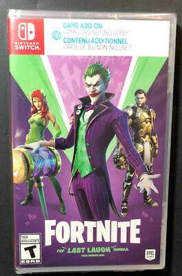 Fortnite The Last Laugh Bundle  Code in Case  Nintendo Switch NEW