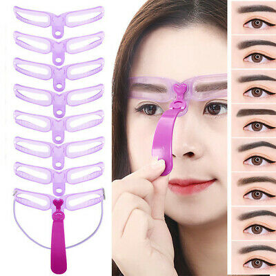 8 Styles Eyebrow Shaping Stencils Grooming Shaper Reusable Template  Makeup Tool