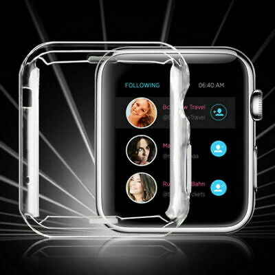 For iWatch Apple Watch Series 6 5 4 3 2 1 SE Full Cover Screen Protector Case