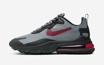 Nike Air Max 270 React Houndstooth CT3135-001 Black Red Grey Mens Running Shoe