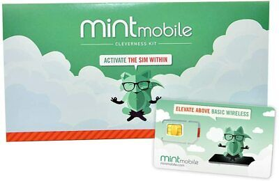Mint Mobile Prepaid SIM Card w Unlimited Talk and Text 12GBMo LTE for 3 Months