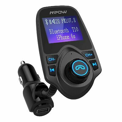 Mpow Car Wireless Bluetooth FM Transmitter Stereo MP3 Player Adapter USB Charger