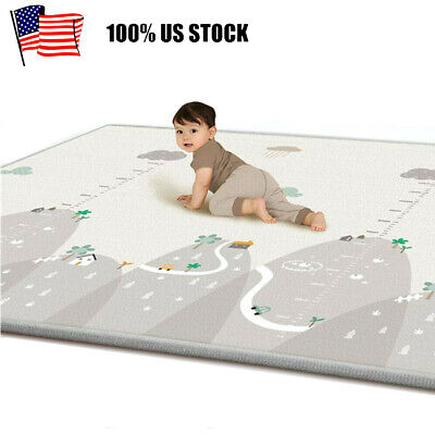 Baby Crawling Mat Playmat 79x71 Large Waterproof Play Mat Foldable Double-Sided