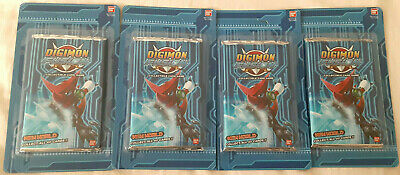 Digimon Fusion Cards 4 Booster Packs - Discounts in Description