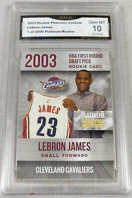 2003 LEBRON JAMES FIRST EVER PLATINUM ONLY 2000 ROOKIE CARD CLEVELAND CAVALIERS