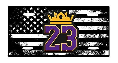American Flag Tactical Lakers Aluminium License Plate 6 x 12 Highest Quality