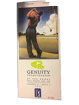 Genuity Championship At The Doral Golf Resort and Spa Feb25-Mar 3 2002 Tickets