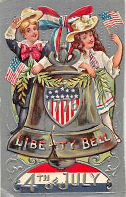 Fourth of July the Liberty Bell vintage postcard DD11393