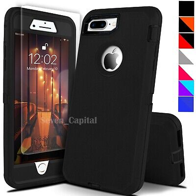 For iPhone 6 7 8 Plus SE 2nd Protective Shockproof Cover Case - Screen Protector