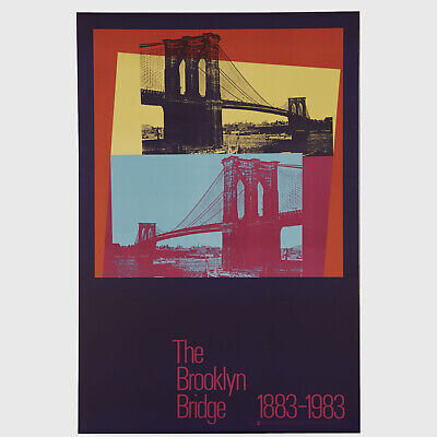 Andy Warhol Rare Vintage 1983 Original Brooklyn Bridge 1883-1983 36 Poster
