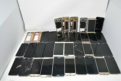 Lot of 33 Samsung galaxy note broken screens frames for parts or repair
