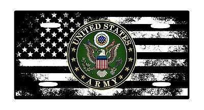 American Flag Tactical US Army  Aluminium License Plate 6 x 12Lightwieght