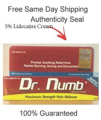 Dr Numb 5 Cream 30 gr Skin Numbing for Body Ink Waxing Piercing New Exp 1223
