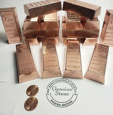 1 lb Copper Ingot -999 Fine Copper 16 oz copper bar Bullion