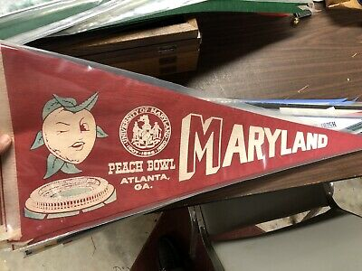 MARYLAND VINTAGE PEACH BOWL COLLEGE FOOTBALL FULL SIZE PENNANT