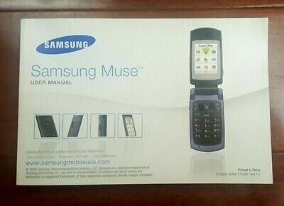 Samsung Muse Mobile Flip Phone User Manual 2008 GH68-17192A English Spanish
