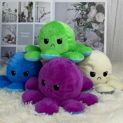 Double-Sided Octopus Plushie HappySad TikTok Show your Mood Expression Toy