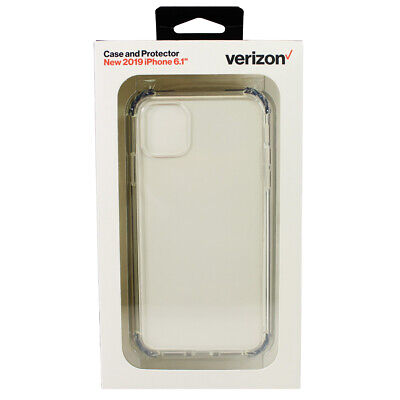 Verizon Clarity Phone Cover Case - Screen Protector for Apple iPhone 11 Clear