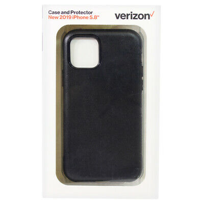 Verizon Rugged Phone Case - Screen Protector for Apple iPhone 11 Pro - Black