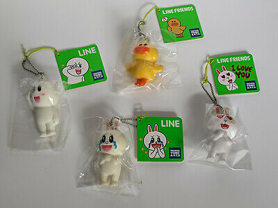 4 Rare Line Friends Squishies Duck Rabbit Cony I Love You Heart Eyes
