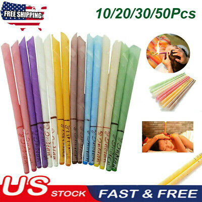 20Pcs Ear Wax Cleaner Removal Coning Fragrance Candles Healthy Hollow Clean USA