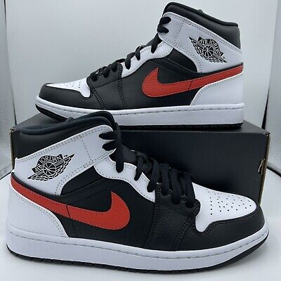 Nike Air Jordan 1 Retro Mid Chile Red White Black 554724-075 Mens and GS Sizes