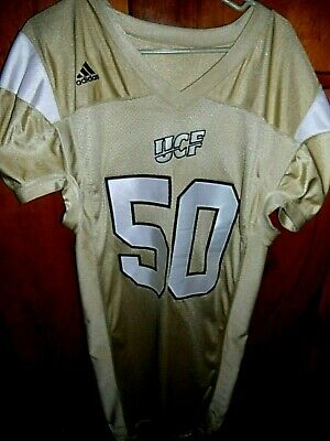 VTG UCF KNIGHTS GAME WORN COLLEGE FOOTBALL JERSEY ADIDAS 50 SZ 44 2 LENGTH