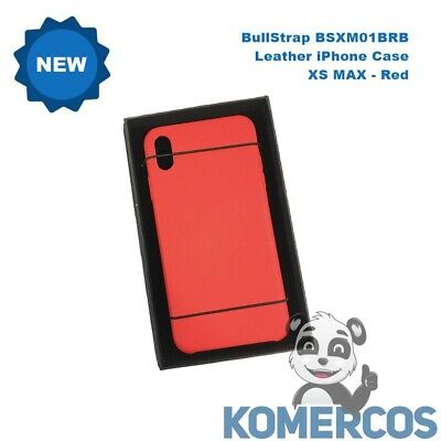 BullStrap BSXM01BRB  Leather iPhone Case - XS MAX  Red
