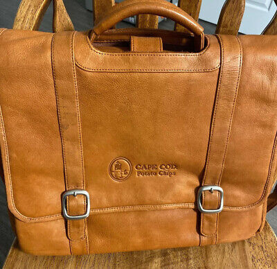 Cape Cod Leather Briefcase - Portfolio Snyder's Lance Campbell's