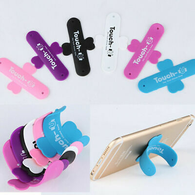 For Universal Holder iPhone Stand Touch U Type Mount Back Samsung Silicone