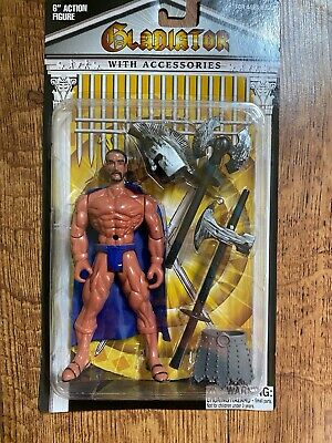 HTF Gladiator 6 Action Figure with Blue Accessories Never Opened