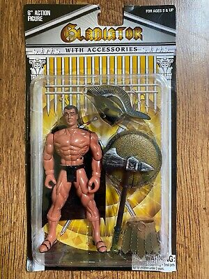HTF Gladiator 6 Action Figure with Black Accessories Never Opened
