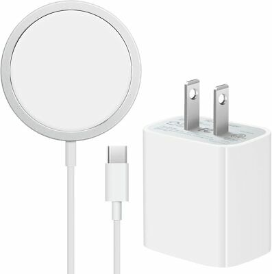 Mag safe Wireless Magnetic Charger For iPhone 1212 Pro - 20W USB-C Wall Adapter