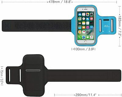 Phone ArmbandWater Resistant w Key Holder Adjustable Band For iPhone Xr8 Plus