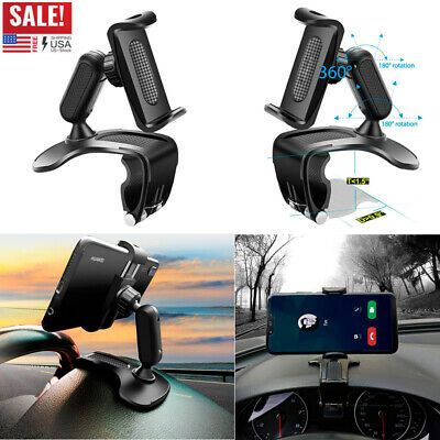 360° Universal Car Dashboard Phone Holder Mount Clamp Cradle Clip For Cell Phone