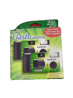 Pack of 2 FUJI FILM Quick Snap Disposable Camera w Continuous Flash EXP 012021
