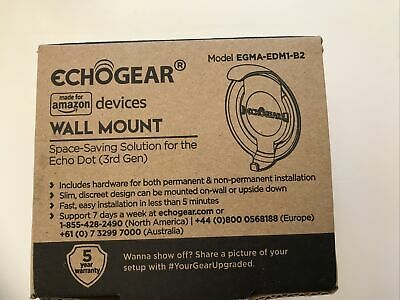 ECHOGEAR for amazon devices Wall Mount EGMA-EDM1-B2 Save Space 3rd Gen Echo Dot