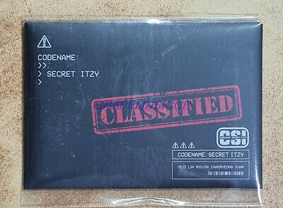 ITZY CSI  Codename Secret POP-UP STORE OFFICIAL GOODS TRADING CARD PHOTOCARD