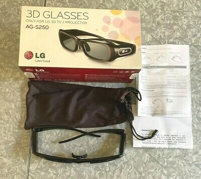 LG 3D Glasses in Box for TV and Projector AG-S250 Clean Untested