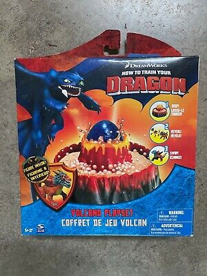 2010 Spinmaster How to Train Your Dragon Volcano Playset Walmart Exclusive