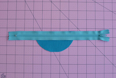 Blue zipper for sewing bags