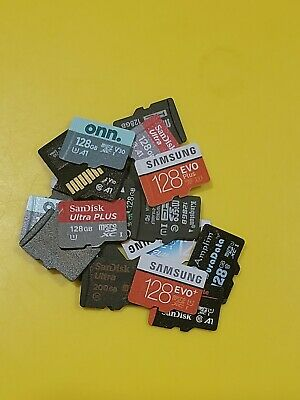 LOT OF 3 128GB MicroSD Cards   MICRO SD  Samsung  Sandisk  ect